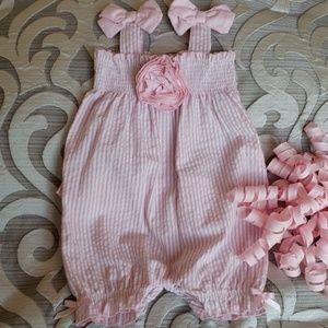 💞Koala Baby Boutique Pink/White Gingham Jumpsuit